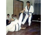 Mr. Aaron Adams And Mr. Roberto Bonefont, Sr., Free Sparring At KofC Demo In Brooklyn, NY 1970