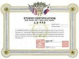 Certified Studio Certificate