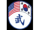World Moo Duk Kwan Dual Flag Patch