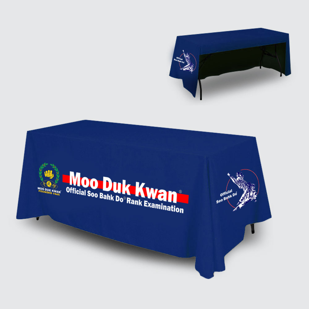Official MOO DUK KWAN® table cover for rank examinations